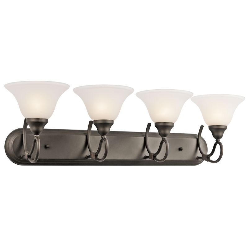 "Kichler 5559 Stafford 33"" Wide 4-Bulb Bathroom Lighting Fixture Olde"