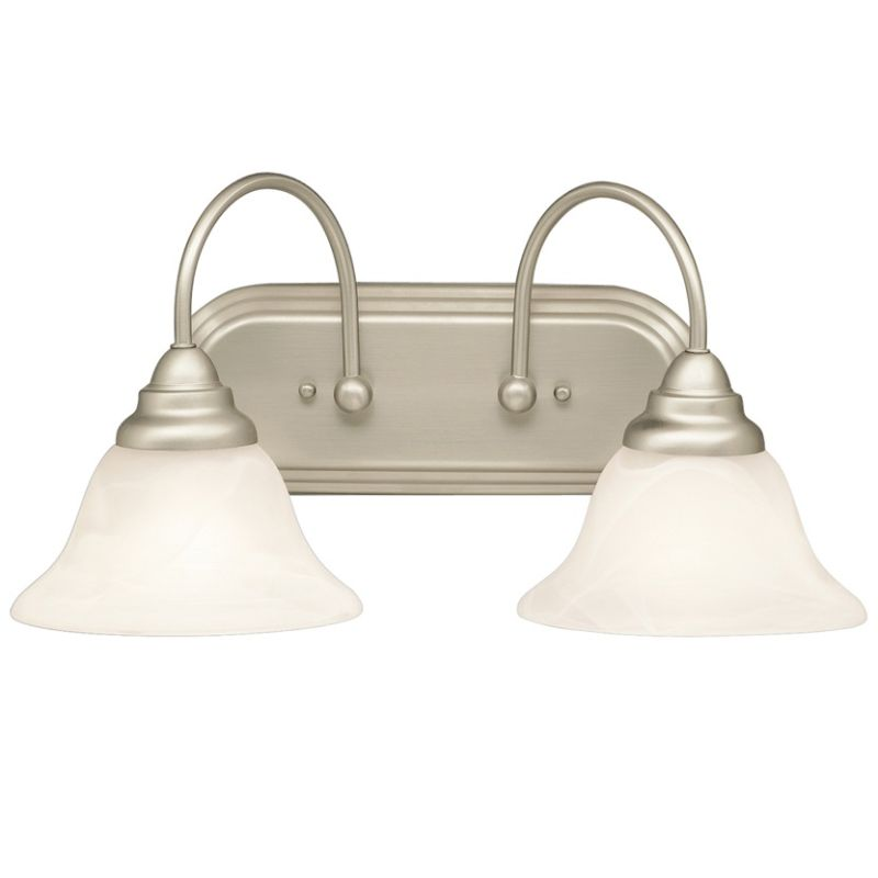 "Kichler 5992 Telford 18"" Wide 2-Bulb Bathroom Lighting Fixture Brushed"
