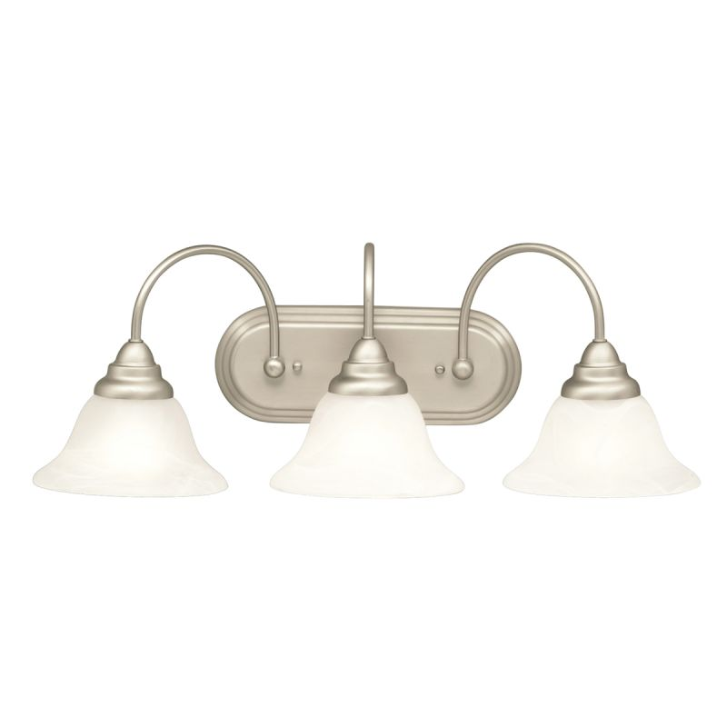"Kichler 5993 Telford 25"" Wide 3-Bulb Bathroom Lighting Fixture Brushed"