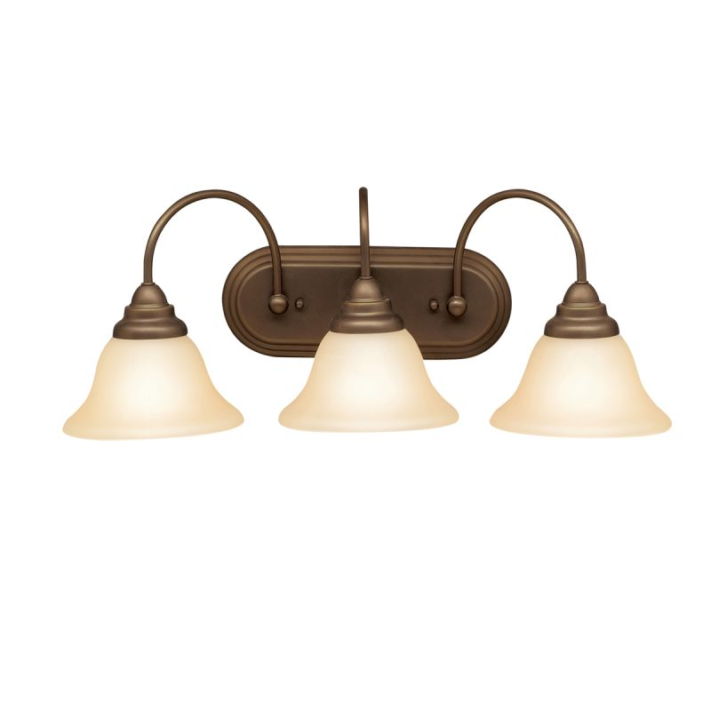 "Kichler 5993 Telford 25"" Wide 3-Bulb Bathroom Lighting Fixture Olde"