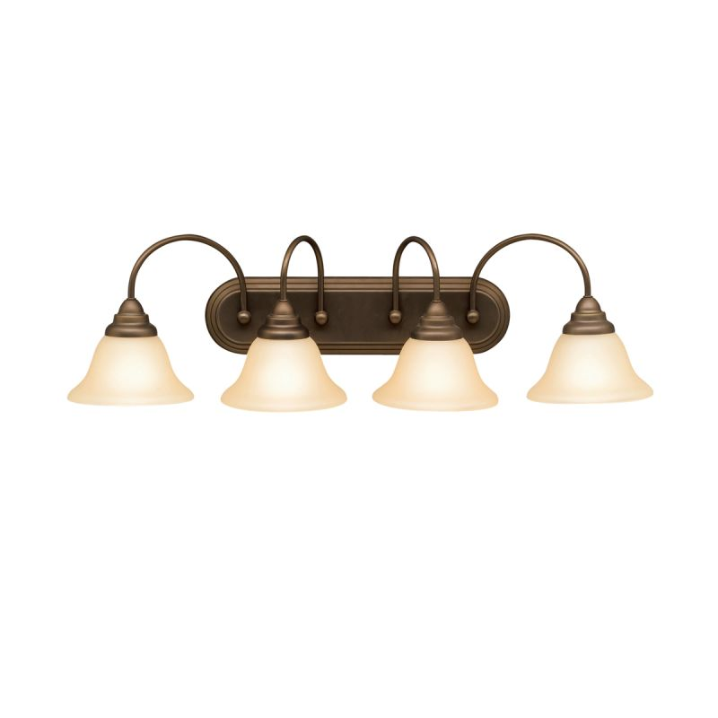 "Kichler 5994 Telford 34"" Wide 4-Bulb Bathroom Lighting Fixture Olde"