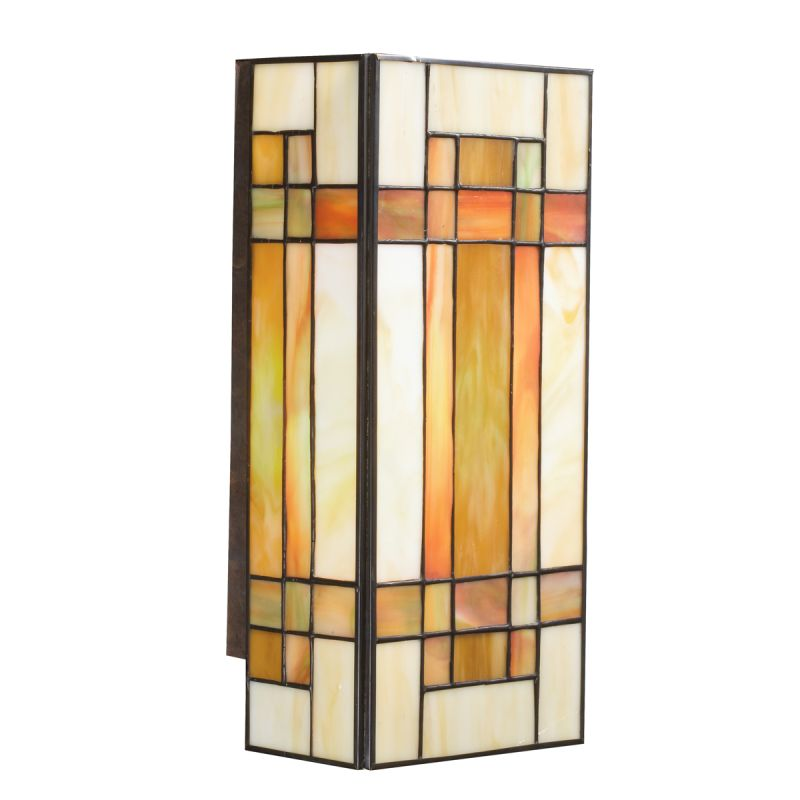 Kichler 69004 Patina Bronze Stained Glass / Tiffany Two Light Wall Sconce with Art Glass from ...