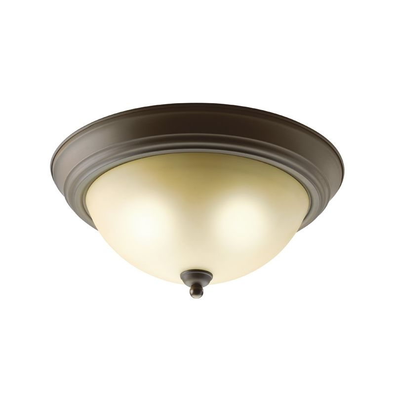 "Kichler 8109 2 Light 14"" Wide Flush Mount Ceiling Fixture Olde Bronze"