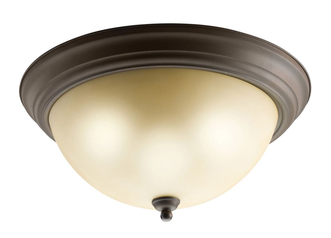 "Kichler 8110 3 Light 16"" Wide Flush Mount Ceiling Fixture Olde Bronze"