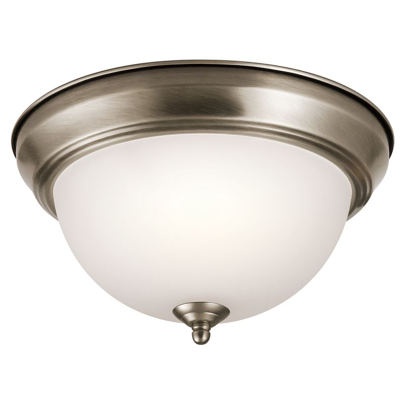 Kichler 8111 Signature 2 Light Flush Mount Ceiling Fixture Antique
