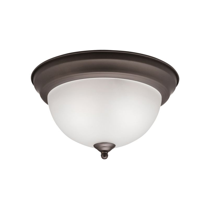 Kichler 8111 Signature 2 Light Flush Mount Ceiling Fixture Olde Bronze
