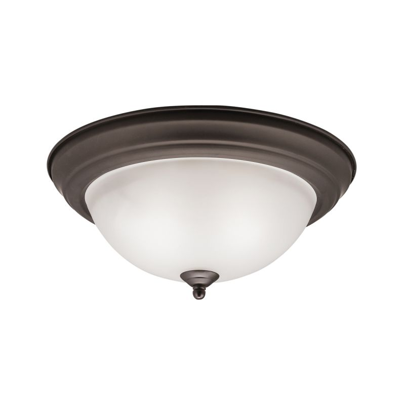 "Kichler 8112 Signature 2 Light 13"" Wide Flush Mount Ceiling Fixture"