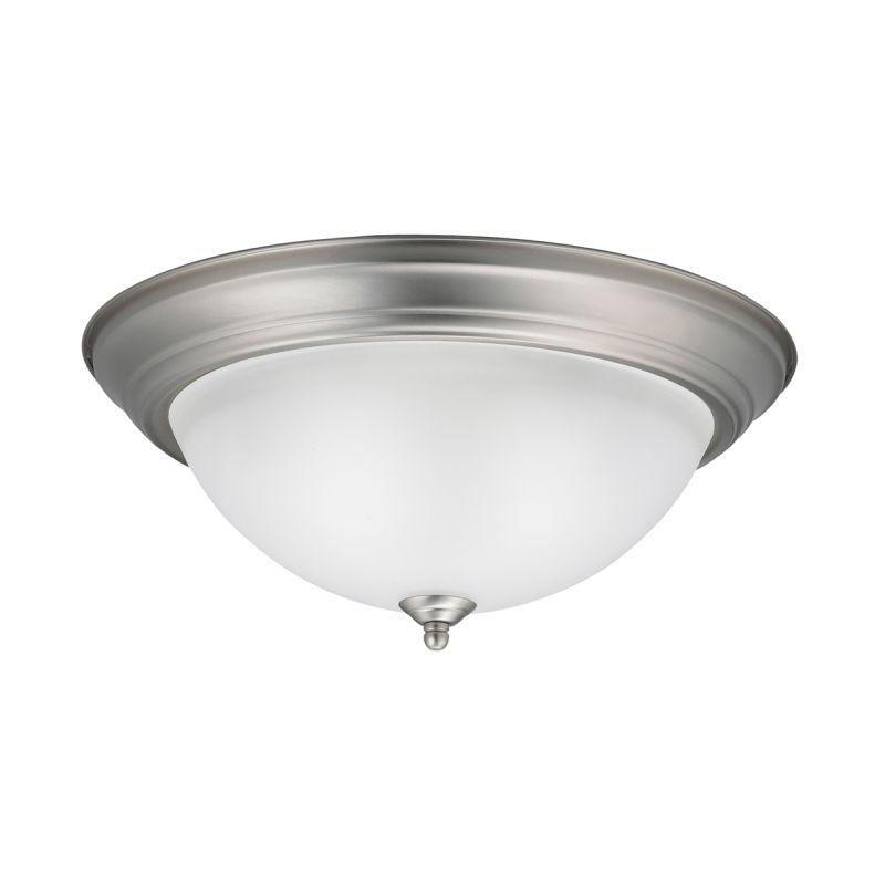 Kichler 8116ni Brushed Nickel 3 Light Outdoor Flush Mount