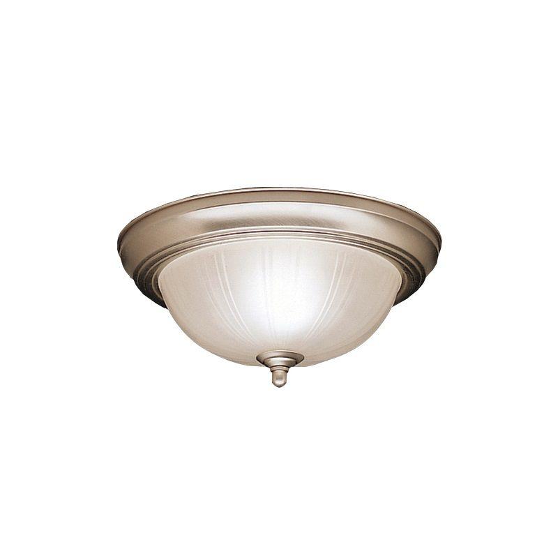 Kichler 8653 2 Light Flush Mount Indoor Ceiling Fixture Brushed Nickel
