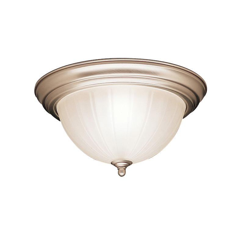 Kichler 8654 2 Light Flush Mount Indoor Ceiling Fixture Brushed Nickel