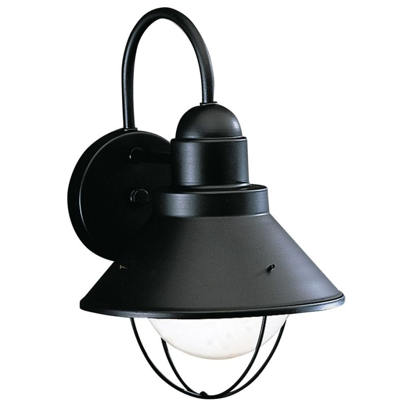 "Kichler 9022 Seaside Single Light 12"" Tall Outdoor Wall Sconce Black"