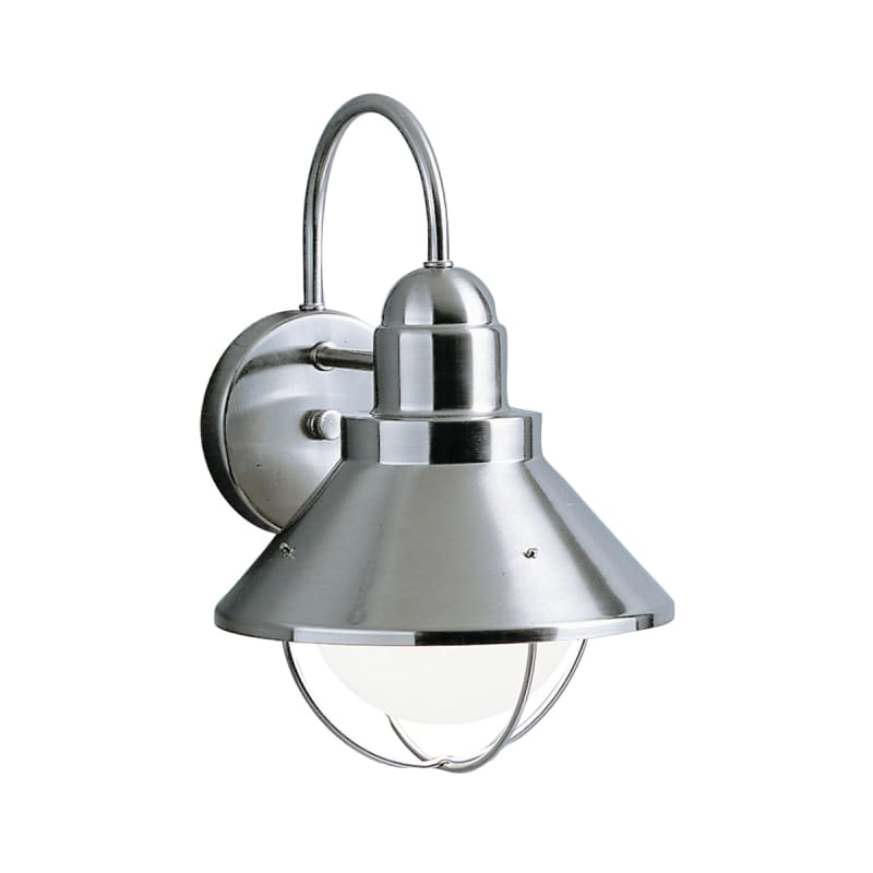 Kichler 9022ni Brushed Nickel Seaside Collection 1 Light 12 Outdoor Wall Light