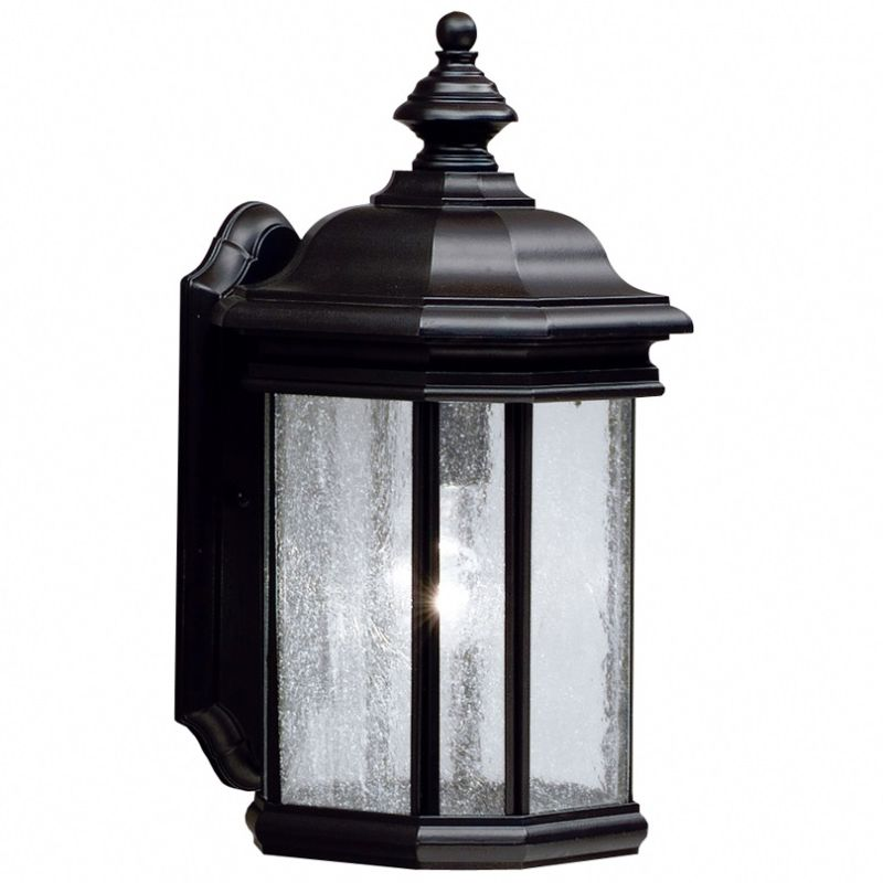 "Kichler 9029 Kirkwood Collection 1 Light 17"" Outdoor Wall Light Black"