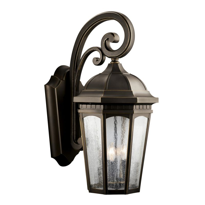 """Kichler 9035 Courtyard Collection 3 Light 27"""" Outdoor Wall Light"""