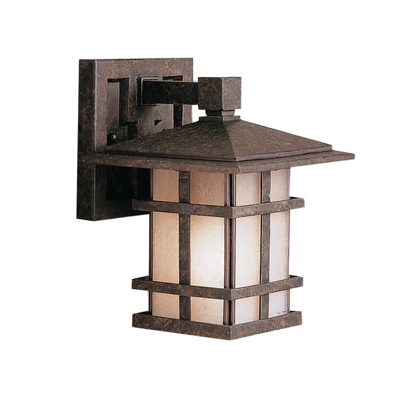 "Kichler 9128 Cross Creek Collection 1 Light 9"" Outdoor Wall Light Aged"