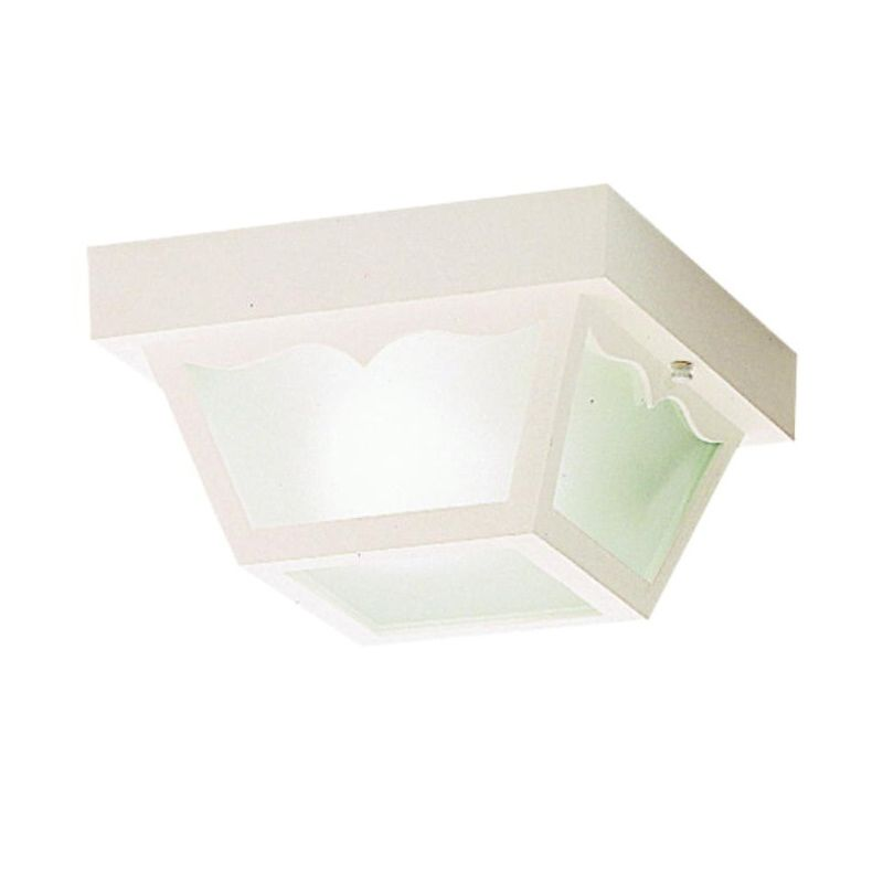 Kichler 9320 1 Light Outdoor Ceiling Fixture White Outdoor Lighting