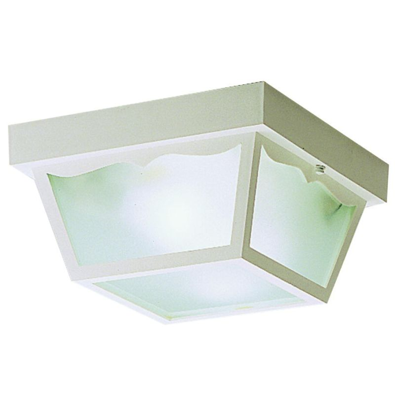 Kichler 9322 2 Light Outdoor Ceiling Fixture White Outdoor Lighting