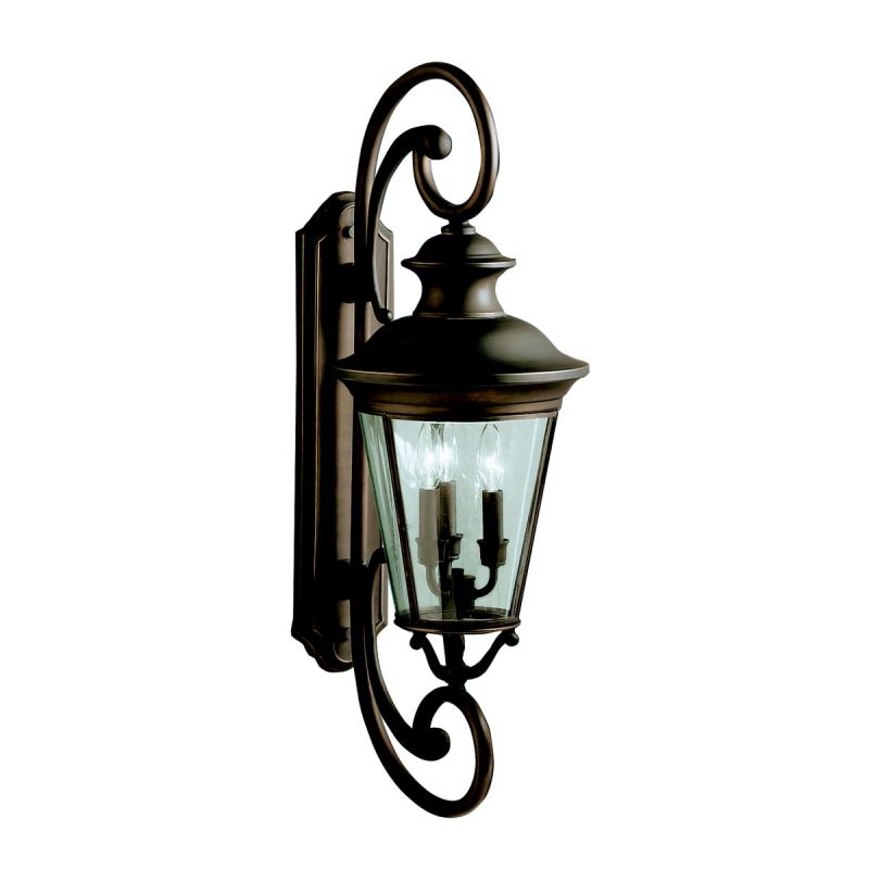 "Kichler 9348 Eau Claire Collection 3 Light 32"" Outdoor Wall Light Olde"