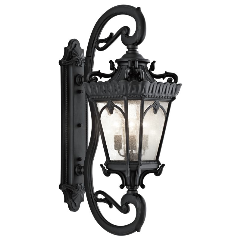 "Kichler 9360 Tournai Collection 4 Light 46"" Outdoor Wall Light Black"