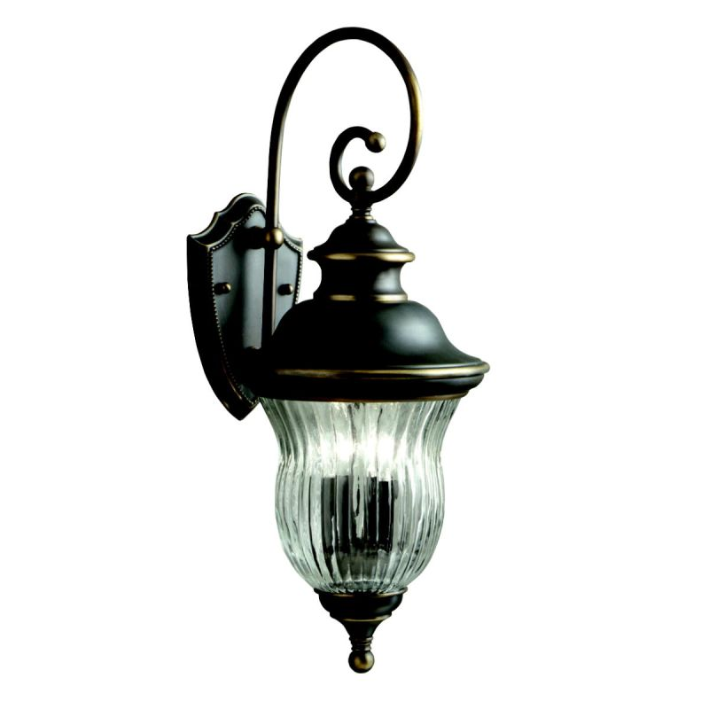 "Kichler 9452 Sausalito Collection 3 Light 24"" Outdoor Wall Light Olde"