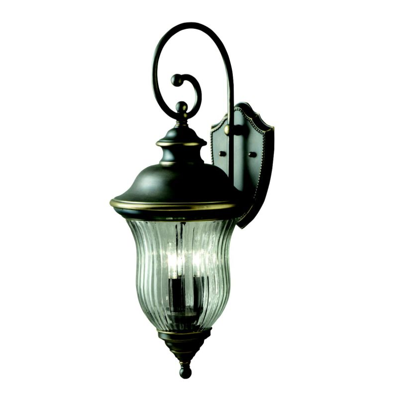 "Kichler 9492 Sausalito Collection 3 Light 28"" Outdoor Wall Light Olde"