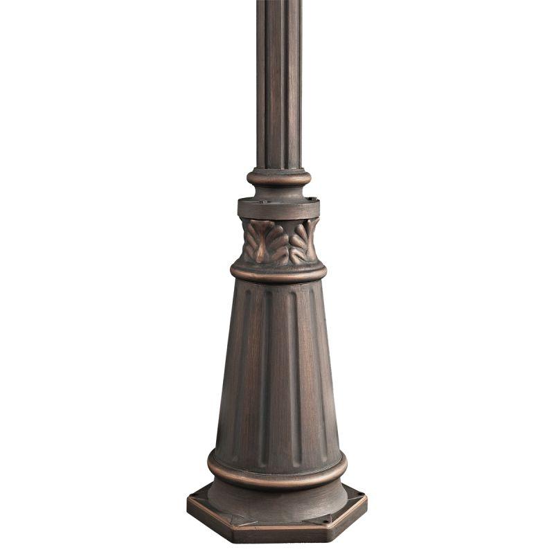 "Kichler 9510 72"" Cast Aluminum Post with Concrete Hardware Londonderry"