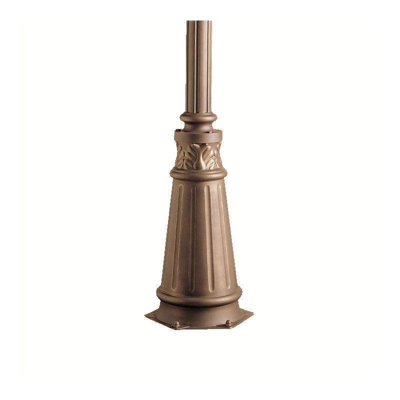 "Kichler 9510 72"" Cast Aluminum Post with Concrete Hardware Olde Bronze"