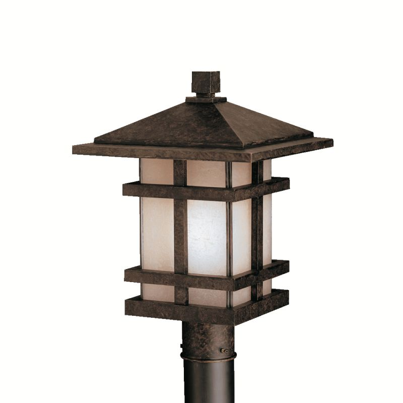 Kichler 9529 1 Light Post Light from the Cross Creek Collection Aged