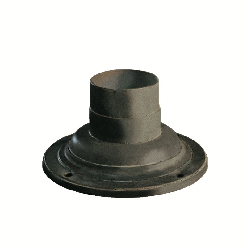 Kichler 9530 7 Inch Round Decorative Post Base Cover for Outdoor Post