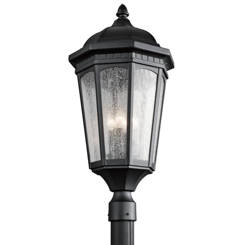Kichler 9533 Courtyard 3 Light Outdoor Post Light Black Outdoor