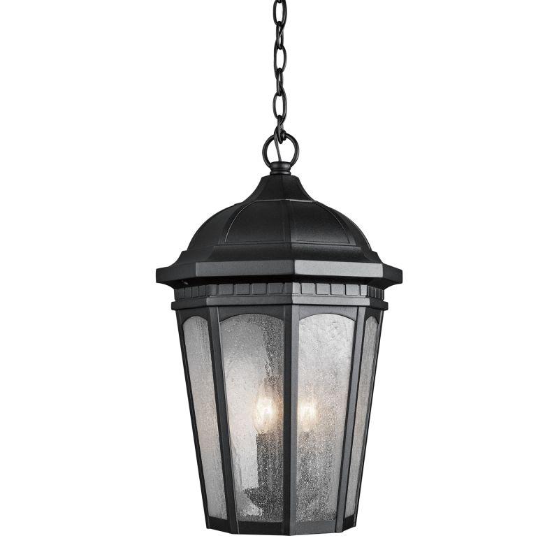 Kichler 9539 Courtyard 3 Light Outdoor Pendant Black Outdoor Lighting