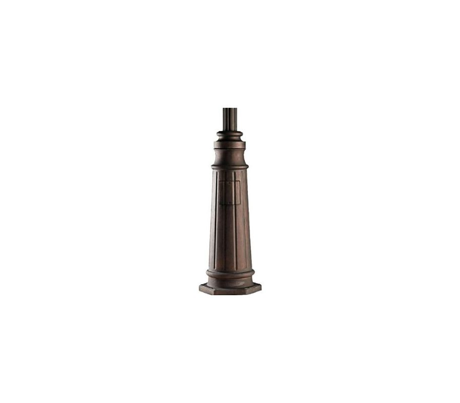 "Kichler 9542 96"" Cast Aluminum Post with Concrete Hardware Brown Stone"