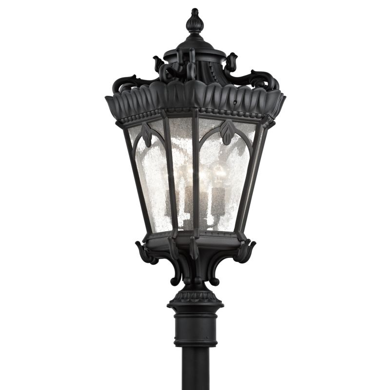 Kichler 9565 Tournai 4 Light 37.5 Inch Tall Outdoor Post Light Black
