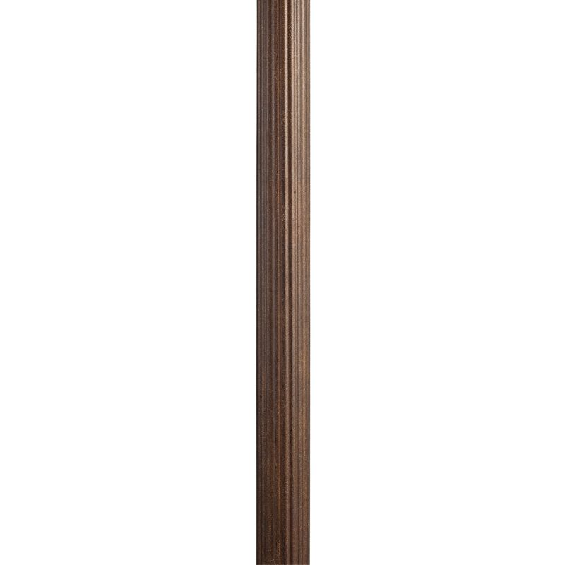 "Kichler 9595 84"" Direct Burial Fluted Aluminum Post Brown Stone"