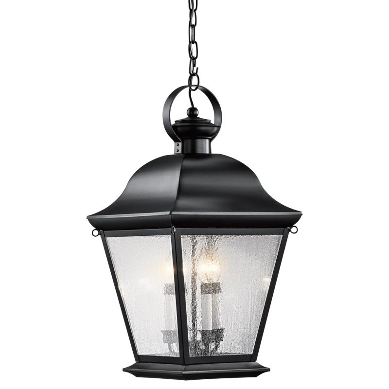 Kichler 9804 Mount Vernon 4 Light Outdoor Pendant Black Outdoor