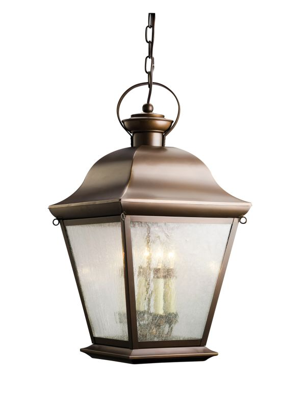 Kichler 9804 Mount Vernon 4 Light Outdoor Pendant Olde Bronze Outdoor