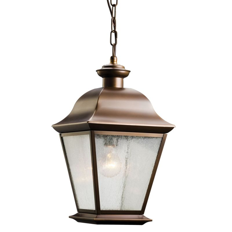 Kichler 9809 Mount Vernon Single Light Outdoor Pendant Olde Bronze