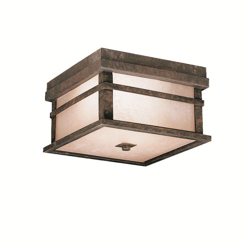 Kichler 9830 2 Light Outdoor Ceiling Fixture from the Cross Creek