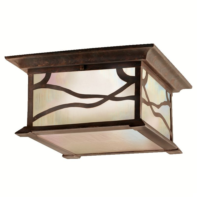 Kichler 9838 2 Light Outdoor Ceiling Fixture from the Morris