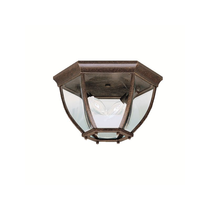 Kichler 9886 2 Light Outdoor Ceiling Fixture Tannery Bronze Outdoor