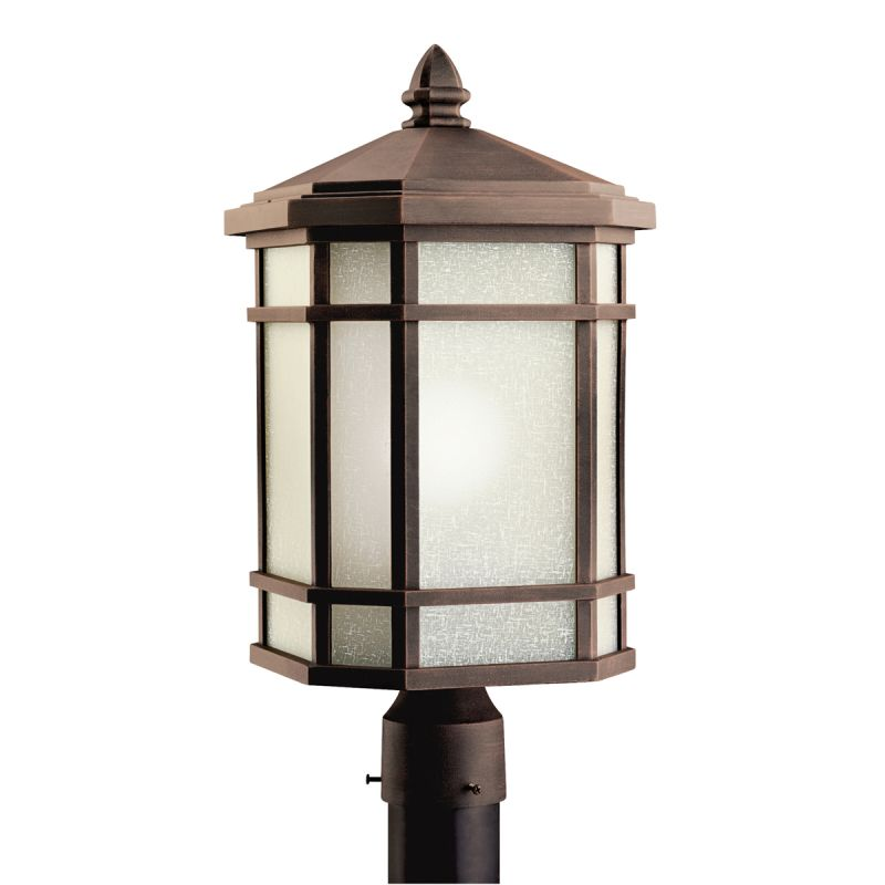 Kichler 9902 1 Light Post Light from the Cameron Collection Prairie Sale $275.00 ITEM: bci845441 ID#:9902PR UPC: 783927224659 :