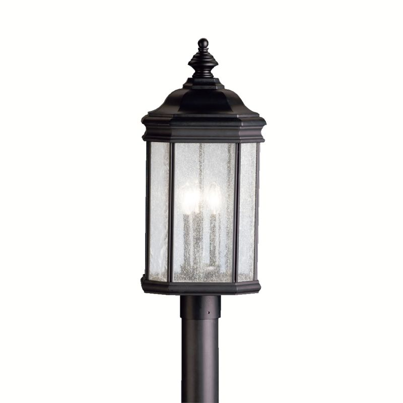 Kichler 9918 3 Light Post Light from the Kirkwood Collection Black