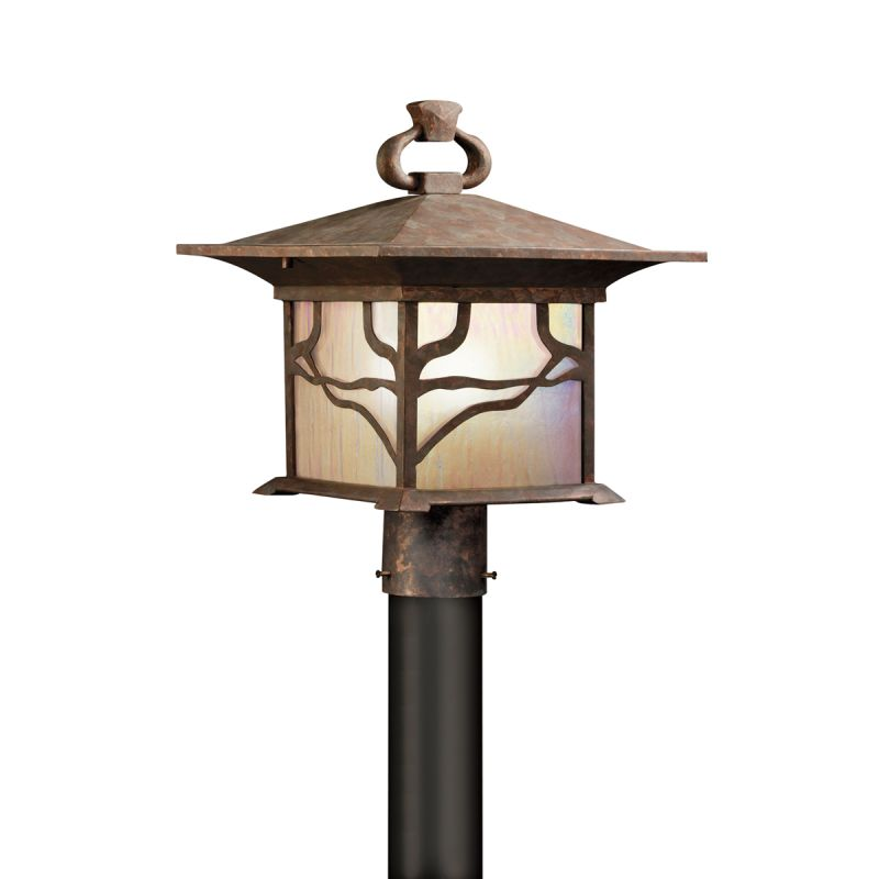 Kichler 9920 1 Light Post Light from the Morris Collection Distressed