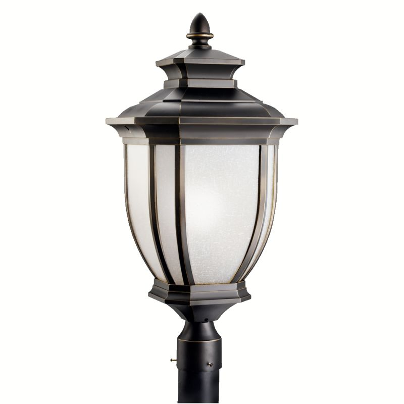 Kichler 9940 1 Light Post Light from the Salisbury Collection Rubbed