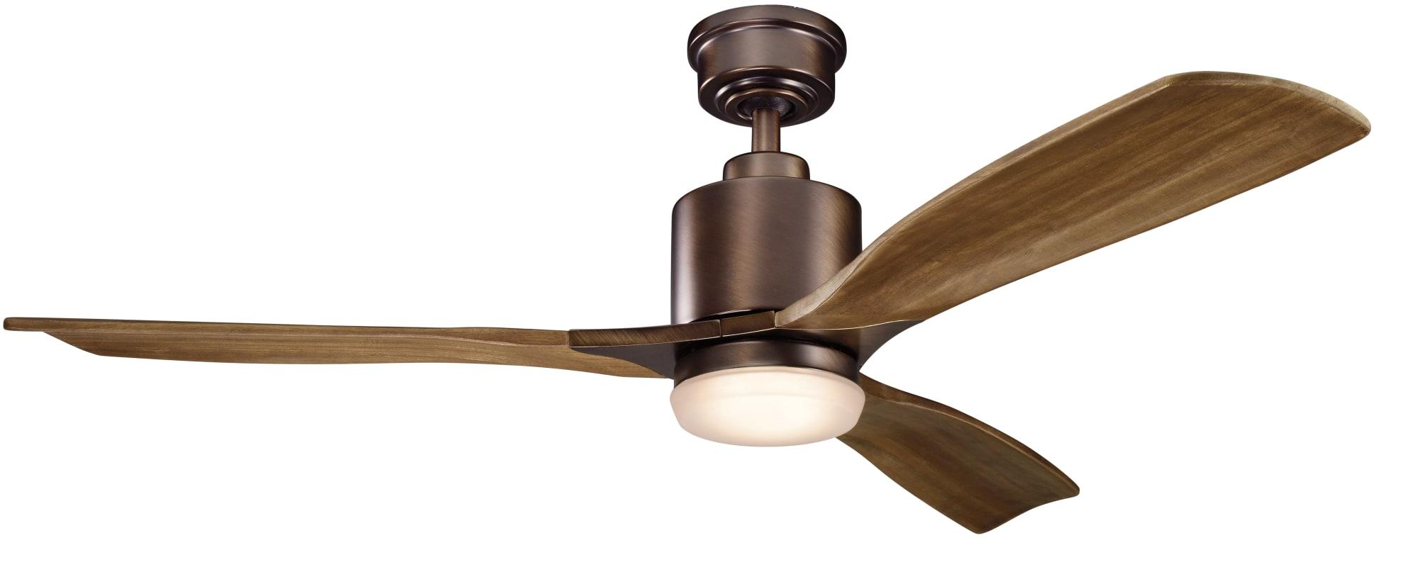 """Kichler 300027 52"""" Ridley II Ceiling Fan - Includes 3 Blades Wall"""