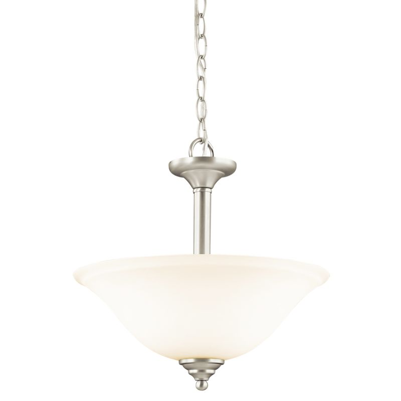 Kichler 3694W Armida 2 Light Semi-Flush Indoor Ceiling Fixture Brushed