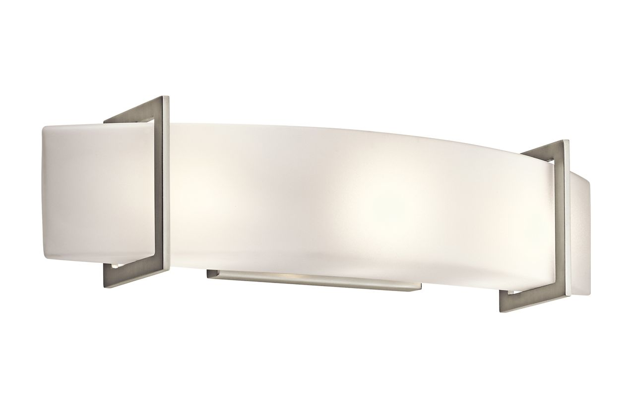 Kichler 45220NI Nickel Contemporary Crescent View Bathroom Light