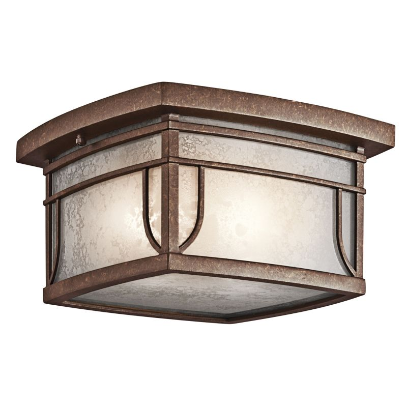 Kichler 49153 2 Light Outdoor Ceiling Fixture from the Soria