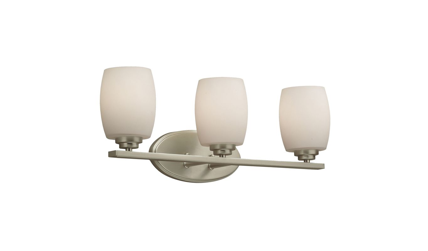 "Kichler 5098 Eileen 3 Light 24"" Wide Bathroom Vanity Light with Etched"