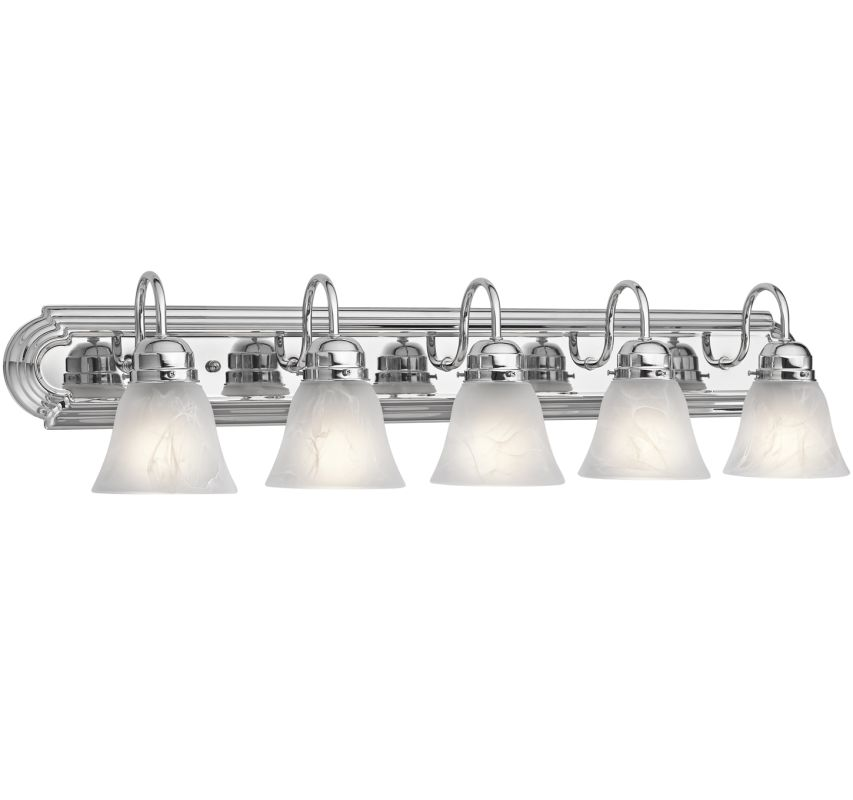 "Kichler 5339 5 Light 36"" Wide Vanity Light Bathroom Fixture Chrome"